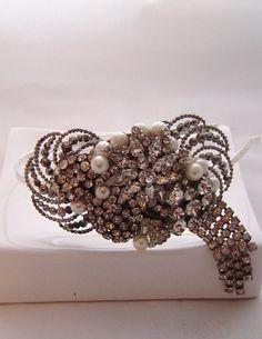Great Gatsby hair accessories Sheena Holland Regina Cut Steel Tiara By Sheena holland