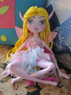 FAIRY Rag Doll Child friendly soft doll by Kaeriefaerie52 on Etsy, $45.00