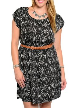 DHStyles Women's Black Plus Size Classy Abstract Chevron Print Dress With Braided Belt #sexytops #clubclothes #sexydresses #fashionablesexydress #sexyshirts #sexyclothes #cocktaildresses #clubwear #cheapsexydresses #clubdresses #cheaptops #partytops #partydress #haltertops #cocktaildresses #partydresses #minidress #nightclubclothes #hotfashion #juniorsclothing #cocktaildress #glamclothing #sexytop #womensclothes #clubbingclothes #juniorsclothes #juniorclothes #trendyclothing #minidresses…