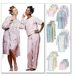 McCall's - M2476 naaipatroon Nachtkleding voor dames, Nachtjapon, Pyjama, Badjas | Naaipatronen.nl | zelfmaakmode patroon online