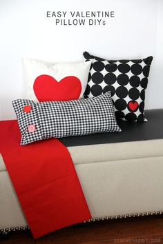 This Valentine's idea by the Sewing Rabbit is simple enough to create and lasts long past Valentine's Day without looking out of place. Click in for these easy valentine pillow DIYs that'll take less than an hour to create not one, not two, but all three home décor pillows.