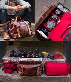 Roamographer Leather Camera Bag | by HoldFast
