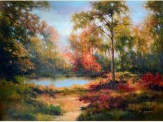Hidden Pond  #landscapepaintings