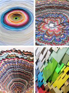 Stunning paper installations by French designer Maud Vantours.