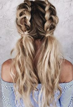 Braided pigtails.
