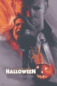 Halloween 40 The Shape Michael Myers Barret Chapman Poster Print Art Mondo Movie Slasher Movies, Horror Movie Characters, Best Horror Movies, Classic Horror Movies, Scary Movies, Awesome Movies, Halloween Film, Halloween Prints, Halloween Horror
