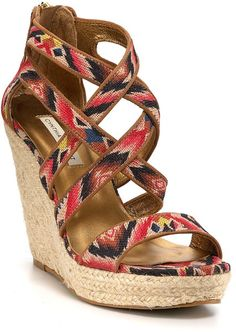 Cynthia Vincent Brown Wedges Juno Espadrille