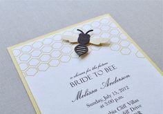 Bride to bee shower invitation.