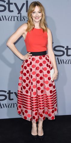 See the Stars on the 2015 InStyle Awards Red Carpet - Judy Greer  - from InStyle.com