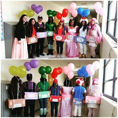 Mario Kart Group Costume. Halloween. Teachers.