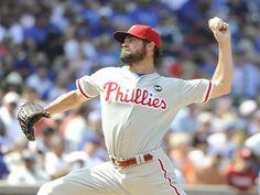 El zurdo Cole Hamels lanza juego sin hit ante Cubs