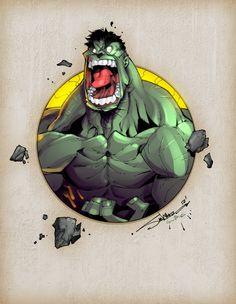 ✿ ✏ ✿ ✏✏ ✿ ✏✏ ✿ ✏✏ ✿ ✏ Hulk art by Steven Sanchez Hulk Comic, Hulk Marvel, Marvel Art, Marvel Dc Comics, Marvel Heroes, Comic Book Characters, Marvel Characters, Comic Character, Comic Books Art