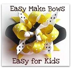 Learn To Make Hair Bows | Ez Hair Bow Maker, Bumble Bee,Children Learn How to Make Hair Bows