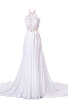 Babyonline White Backless Evening Dresses for Cocktail Party Maxi Formal Gown, White, 4