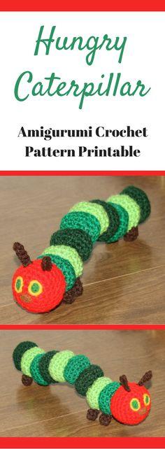 Amigurumi Hungry Caterpillar Crochet Pattern Printable #ad #amigurumi #amigurumidoll #amigurumipattern #amigurumitoy #amigurumiaddict #pattern #patternsforcrochet #crochet #crocheting #printable #instantdownload #hungrycaterpillar