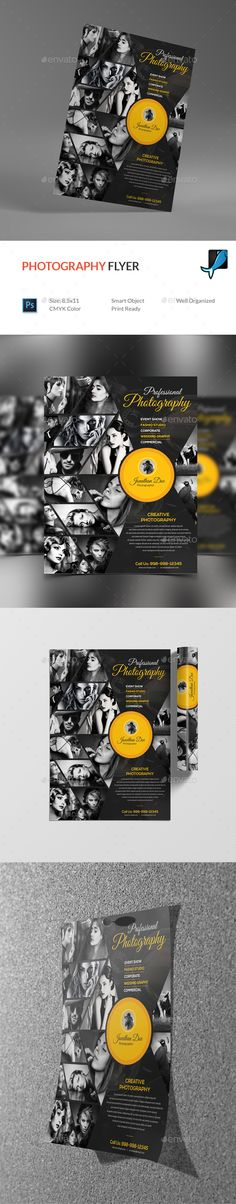 Photography Flyer - Corporate Flyers Photography Flyer, Fashion Photography, Wedding Photography, Business Flyer Templates, Business Flyers, Building Logo, Flyer Layout, Corporate Flyer, Print Templates