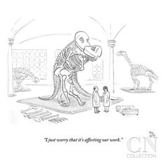 """size: Premium Giclee Print: """"I just worry that it's affecting our work."""" - New Yorker Cartoon by Paul Noth : Entertainment Funny Texts, Funny Jokes, Hilarious, Funny Gifs, Funny New, Funny As Hell, Funny Stuff, Cartoon Posters, New Yorker Cartoons"""