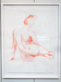 Bernadette (original framed figure study)