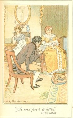 Mansfield Park illustrations | She was forced to listen ~ Volume III, Chapter II (33)