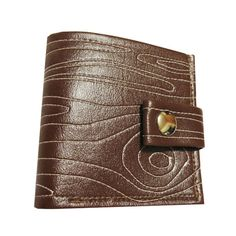 This handmade wood grain pattern bifold wallet is great for teenage boys and young men as a stocking stuffer gift.