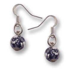 Murano Glass Earrings - Brina Dark Violet