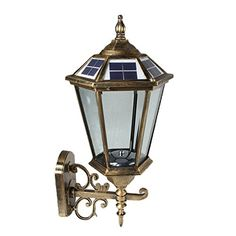 Large Outdoor Solar Ed Led Wall Light Lamp Bo17