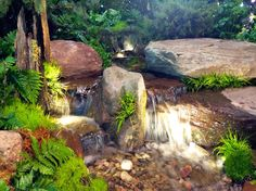 Waterfall created by Arbor Ridge in Kingsville, MD. #WaterfallWednesday