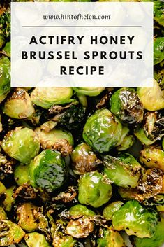 Delicious brussel sprouts made in the Actifry. Simple to make in under 20 minutes, flavoured with salt, pepper and honey. Sprout Recipes, Vegetable Recipes, Vegetarian Recipes, Healthy Recipes, Healthy Meals, Tefal Actifry, Homemade Cornbread, Side Dishes, Brussels Sprouts