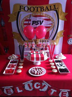 Desserttafel PSV voetbal sweet table soccer