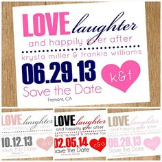 Printable Save The Date Cards by Lollipop Ink