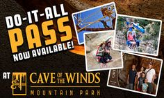 Plan your next trip to Cave of the Winds Mountain Park! Enjoy an unforgettable Colorado adventure into a 500-million-year-old underground world with rides.
