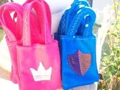 Princess and Knights Party ... crowns and shields Set of 12 Party bags