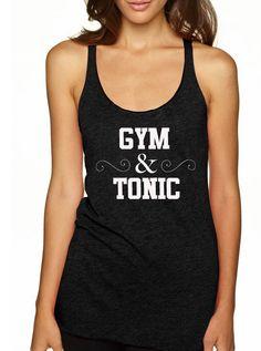 Pilates Shirt. Pilates Top. Exercise Shirt. Workout Top. Fitness Shirt. Pilates Clothes. Pilates Tank Top. Pilates Racerback. Gym & Tonic. by TheNextLevelHustle on Etsy