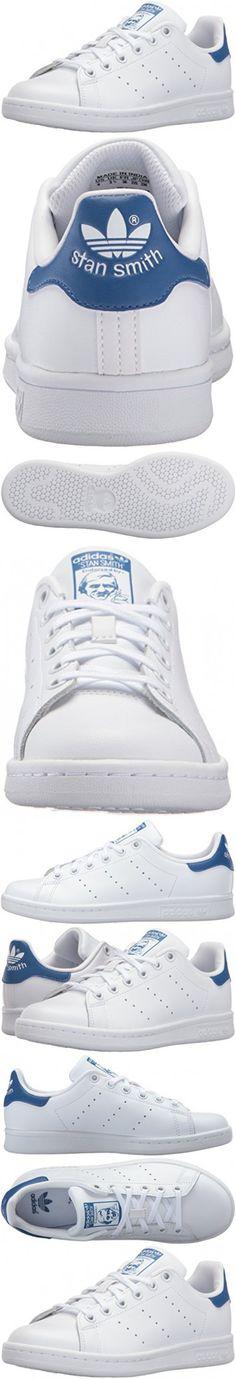 Adidas Originals Boys\u0027 Stan Smith J Skate Shoe, White/White/Equipment Blue