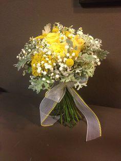 Bouquet de novia en tonos amarillos #eivissgarden