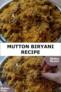Vegetarian Snacks, Vegan Dinner Recipes, Indian Food Recipes, Cooking Recipes, Lamb Biryani Recipes, Best Mutton Biryani Recipe, Chicken Biryani Recipe Indian, Biryani Recipe Video, Beef Biryani Recipe
