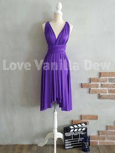 Bridesmaid Dress Infinity Dress Bright Purple by LoveVanillaDew