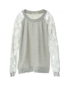 Woven Lace Contrast Sweater