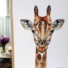 contemporary watercolour Giraffe painting by Chloe Brown Contemporary Artwork, Modern Art, Giraffe Painting, Chloe Brown, Dressage Horses, Flower Bomb, Brown Art, Pet Portraits, Original Artwork