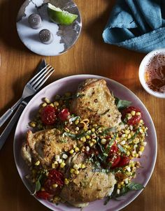 Nina Compton's Recipe for Roast Chicken Thighs With Jerk Corn and Lime