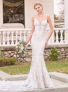 Ivoire by Kitty Chen - V1804 / SABRINA | Jaehee Bridal Atelier    #fitandflare #vneck #straps #lace #embellished #bridal #weddingdress