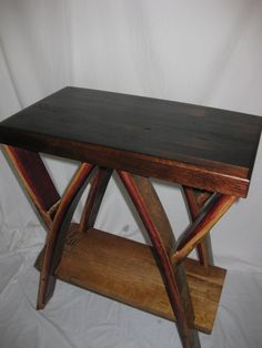 wine barrel side table by thevalleybarrel on etsy arched napa valley wine barrel