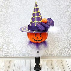 Create this project with Americana® Multi-Surface Acrylics — This colorful bewitching accent will add interest to any corner of your home this Halloween.