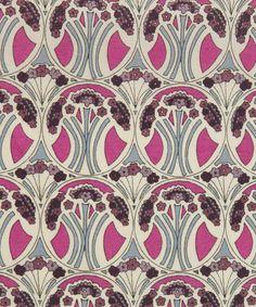 Liberty Art Fabrics Mauverina C Tana Lawn | Fabric by Liberty Art Fabrics | Liberty.co.uk