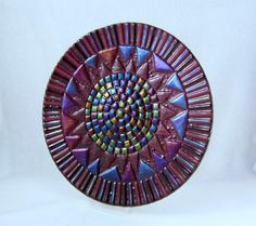 Fused Glass Platter Deepest Plum and by AlteredElementsGlass