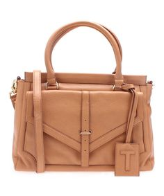 Look at this Tory Burch Aged Vachetta 797 Large Leather Satchel on #zulily today!