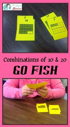Grab this free set of 20 frame playing cards and learn more about a quick and fun game for working on combinations of 10 & 20.