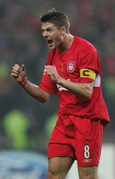 Gerrard Steven Gerrard, Best Football Players, Football Soccer, Liverpool Football Club, Liverpool Fc, Premier League, Stevie G, Liverpool Legends, Engineered Garments