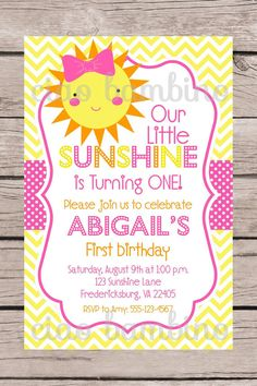 PRINTABLE / Personalized / You are My Sunshine by ciaobambino
