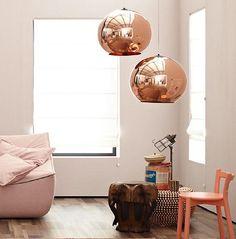 Sie ist euch bestimmt schon auf verschiedenen Interior Blogs oder Instagram-Accounts aufgefallen: die kugelrunde Kupferlampe, design...